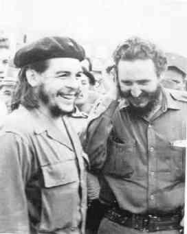 With Fidel Castro.