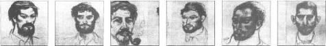Identikits de la guerrilla del Che.