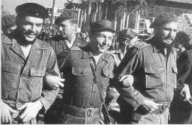 Che Guevara, with Raúl and Fidel Castro.