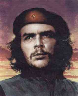 Painting of the most famous Che Guevara photo.